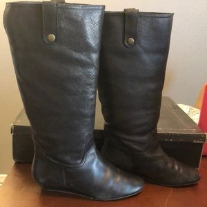 Steve Madden Inspirre Black Leather Boots
